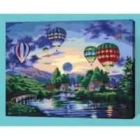 Allegro 4317 Картина по номерам 40*50 в раме Воздушные шары Е169 (27 цветов, 3 звезды)