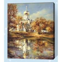 Allegro 4316 Картина по номерам 40*50 в раме Золотая Е170 (24 цвета, 4 звезды)