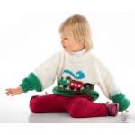 Детский пуловер с паровозиком