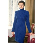 Синее платье с аранами