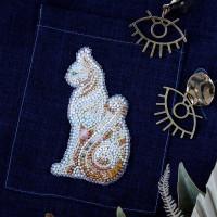 Абрис Арт 618046 Набор для вышивки бисером украшения на натур. художественном холсте 'Баст-А' 5,6*9,7см АД-109