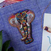 Абрис Арт 618048 Набор для вышивки бисером украшения на натур. художественном холсте 'Чудо Индии-А' 7,7*9,5см АД-111