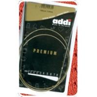 Addi 105-7/2.5-40 Спицы круговые супергладкие, никель, ADDI 105-7, 40 см, №2.5