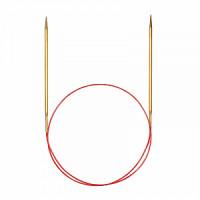 Addi 755-7/2-50 Спицы круговые позолоченные с удлиненным кончиком, №2, 50 см