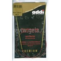 Addi 755-7/2.5-60 Спицы Addi Lace круговые с удлиненным кончиком 60см 2.5мм