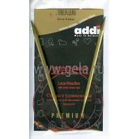 Addi 755-7/5-80 Спицы Addi Lace круговые с удлиненным кончиком 80см 5.0мм