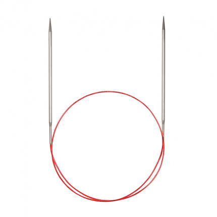 Спицы Addi круговые супергладкие с удлиненным кончиком 100см 5.5мм