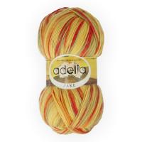 """Пряжа ADELIA """"JAKE"""" 75% шерсть, 25% нейлон 100 г 400 м ± 15 м Цвет 06 желтый/красный/оранжевый/зеленый"""