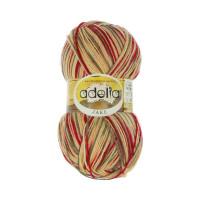 """Пряжа ADELIA """"JAKE"""" 75% шерсть, 25% нейлон 100 г 400 м ± 15 м Цвет 09 т.желтый/т.красный/т.зеленый/оранжевый"""