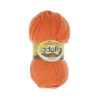 """Пряжа ADELIA """"JAKE"""" 75% шерсть, 25% нейлон 100 г 400 м ± 15 м Цвет 11 оранжевый/красный"""