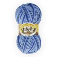 "Пряжа ADELIA ""JAKE"" 75% шерсть, 25% нейлон 100 г 400 м ± 15 м Цвет 14 голубой/синий"