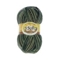 "Пряжа ADELIA ""JAKE"" 75% шерсть, 25% нейлон 100 г 400 м ± 15 м Цвет 18 зеленый/т.зеленый/т.серый"