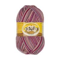 """Пряжа ADELIA """"JAKE"""" 75% шерсть, 25% нейлон 100 г 400 м ± 15 м Цвет 24 сиреневый-лиловый-бордовый-кремовый"""
