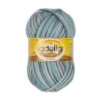 """Пряжа ADELIA """"JAKE"""" 75% шерсть, 25% нейлон 100 г 400 м ± 15 м Цвет 25 бл.голубой-голубой-св.серый"""