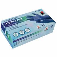 ADM HR001G Перчатки латексные прочные (High Risk) КОМПЛЕКТ 25 пар (50 шт.) неопудренные, размер S, синие, ADM, HR001G