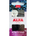 """Alfa AF-219G Иглы ручные """"ALFA"""" AF-219G для бисероплетения + нитевдеватель"""