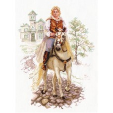 Набор для вышивания 4-17 Юноша на белом коне