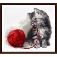 """Alisena 1163 Набор для вышивания Alisena 1163 Набор для вышивания Alisena """"Котёнок с клубком"""""""
