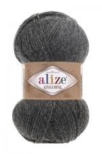 Пряжа для вязания Alize Alpaca Royal (Ализе Альпака Роял) Цвет 182 темно серый
