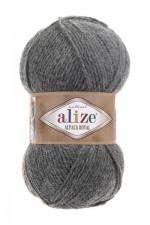 Пряжа для вязания Alize Alpaca Royal (Ализе Альпака Роял) Цвет 196 серый