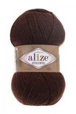 Пряжа для вязания Alize Alpaca Royal (Ализе Альпака Роял) Цвет 201 коричневый