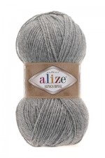 Пряжа для вязания Alize Alpaca Royal (Ализе Альпака Роял) Цвет 21 светло серый