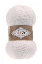 Пряжа для вязания Alize Alpaca Royal (Ализе Альпака Роял) Цвет 55 белый