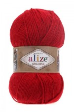Пряжа для вязания Alize Alpaca Royal (Ализе Альпака Роял) Цвет 56 красный