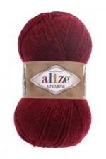 Пряжа для вязания Alize Alpaca Royal (Ализе Альпака Роял) Цвет 57 бордовый