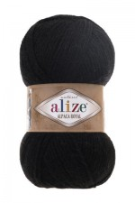 Пряжа для вязания Alize Alpaca Royal (Ализе Альпака Роял) Цвет 60 черный