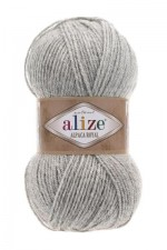Пряжа для вязания Alize Alpaca Royal (Ализе Альпака Роял) Цвет 684 пепельный