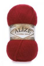 Пряжа Alize Angora Gold (Ализе Ангора Голд) Цвет 106 красный