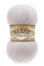 Пряжа Alize Angora Gold (Ализе Ангора Голд) Цвет 168 белая зима
