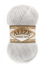 Пряжа Alize Angora Gold (Ализе Ангора Голд) Цвет 208 светло серый