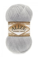 Пряжа Alize Angora Gold (Ализе Ангора Голд) Цвет 21 серый