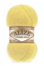Пряжа Alize Angora Gold (Ализе Ангора Голд) Цвет 219 светлый лимон