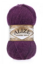 Пряжа Alize Angora Gold (Ализе Ангора Голд) Цвет 226 фиолетовый
