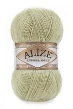 Пряжа Alize Angora Gold (Ализе Ангора Голд) Цвет 267 оливковый