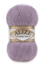 Пряжа Alize Angora Gold (Ализе Ангора Голд) Цвет 312 темно лиловый