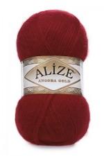Пряжа Alize Angora Gold (Ализе Ангора Голд) Цвет 339 темно красный