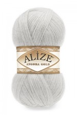 Пряжа Alize Angora Gold (Ализе Ангора Голд) Цвет 362 облачно серый