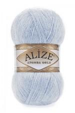 Пряжа для вязания Alize Angora Gold Цвет 480 светло голубой