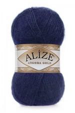 Пряжа Alize Angora Gold (Ализе Ангора Голд) Цвет 58 темно синий