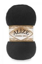 Пряжа Alize Angora Gold (Ализе Ангора Голд) Цвет 60 черный