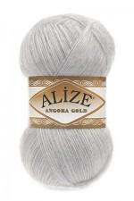 Пряжа Alize Angora Gold (Ализе Ангора Голд) Цвет 614 серый