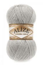 Пряжа Alize Angora Gold (Ализе Ангора Голд) Цвет 652 пепельный