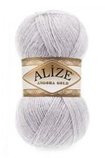 Пряжа Alize Angora Gold (Ализе Ангора Голд) Цвет 71 светло серый