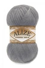 Пряжа Alize Angora Gold (Ализе Ангора Голд) Цвет 87 темно серый