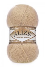 Пряжа Alize Angora Gold (Ализе Ангора Голд) Цвет 95 светло бежевый