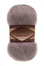 Пряжа для вязания Alize Angora Gold Simli (Ализе Ангора Голд Симли) Цвет 391 лиловый